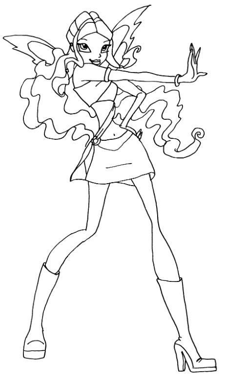 Winx Club Sirenix: Colorear: Layla Magic Winx