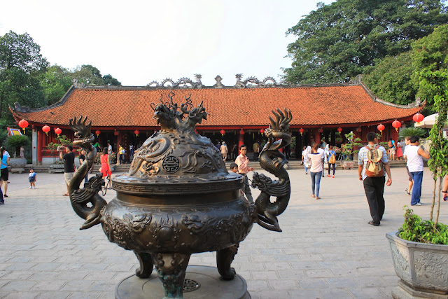 The fourth Courtyard of Temple of Literature in Hanoi, Vietnam