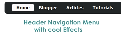 Simple Header Menu in Blogger
