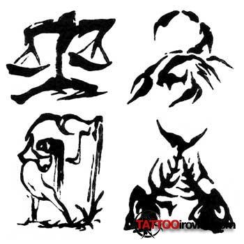 татуировки знаков зодиака - Знаки зодиака Фото татуировок Татуировки на
