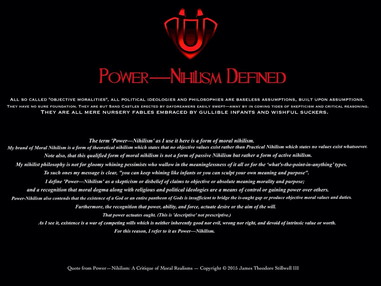 Power—Nihilism: A Case For Moral & Political Nihilism (Ebook)