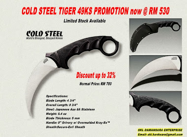 Promotion on Cold Steel Tiger 49ks