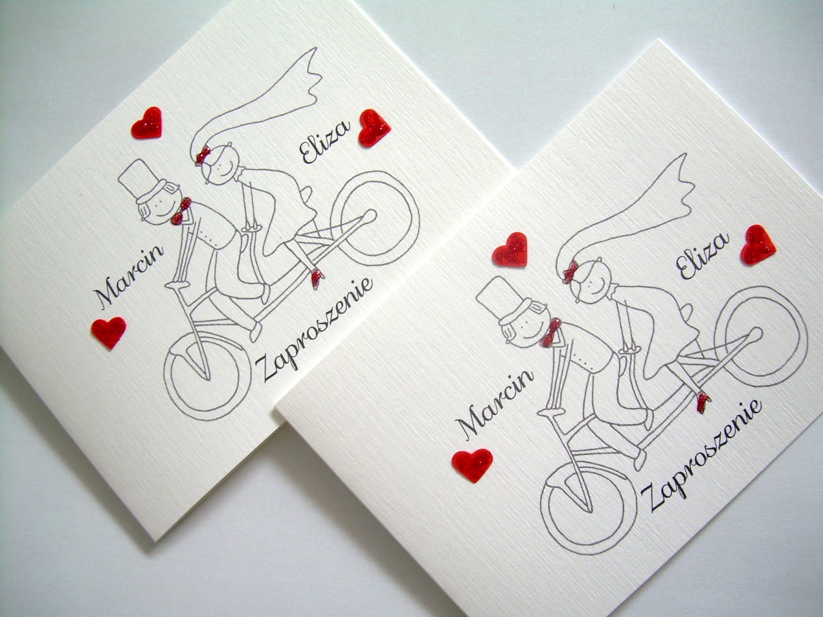 Wyczarowane Z Papieru Zaproszenia ślubne Z Humorem Para Młoda Na