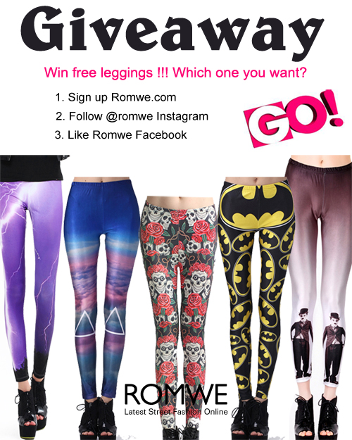 Win Romwe Leggings Giveaway( 2 Winners Will be choosen)