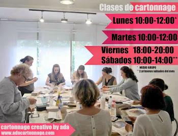 CLASES CARTONNAGE CONTINUADAS (lunes, martes, viernes o sábados)