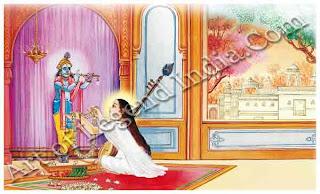 Krishna and Mirabai