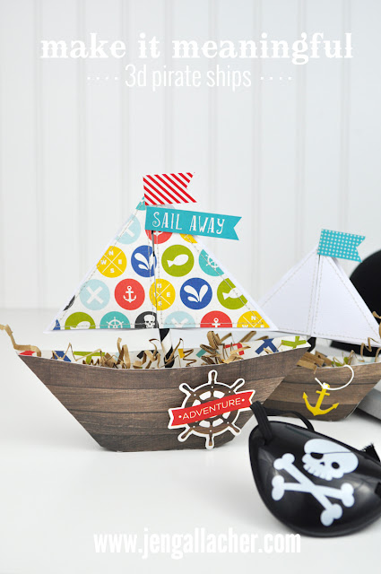 3d Pirate Ship with printable instructions by Jen Gallacher