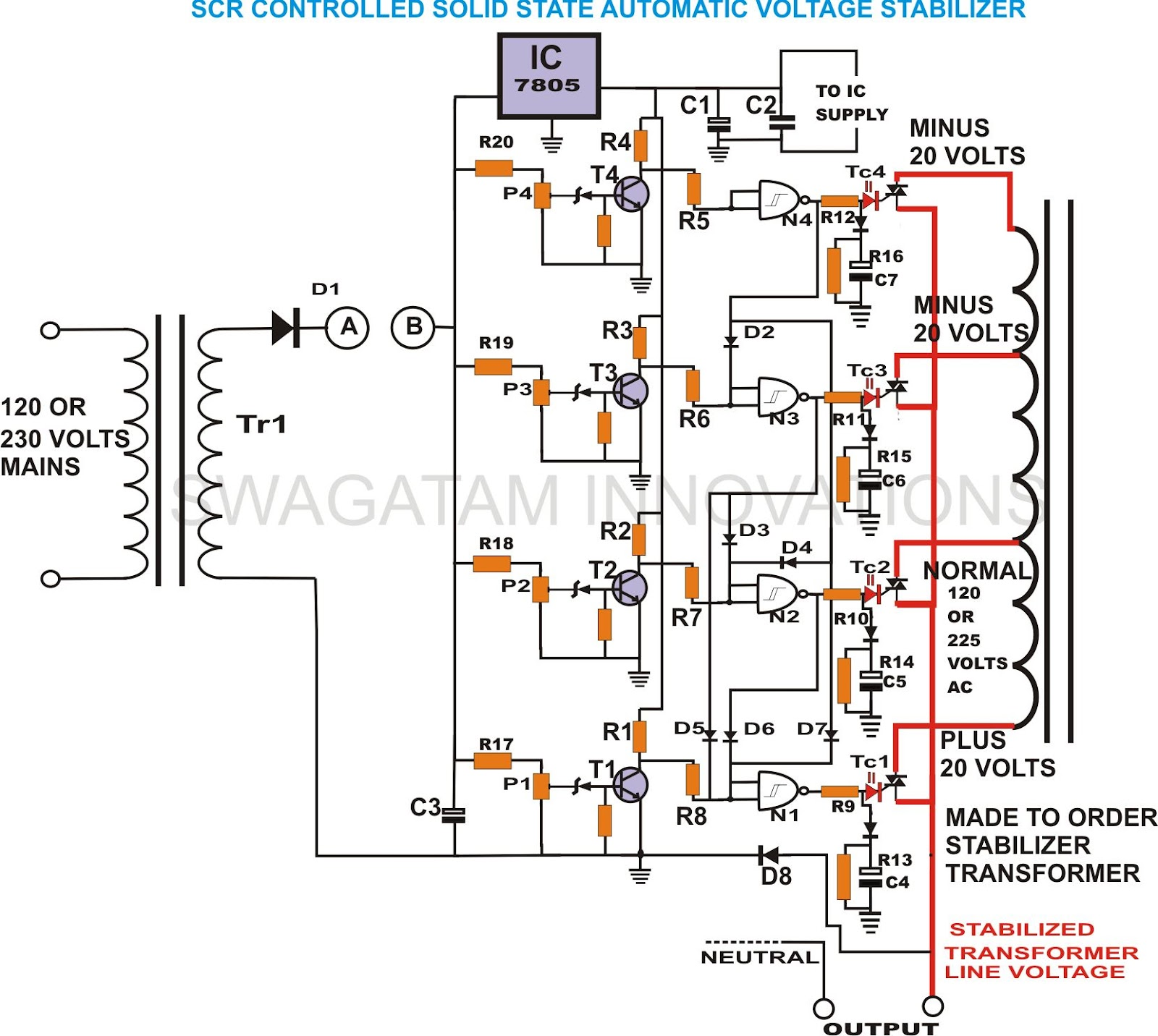 ac voltage regulator circuit diagram the wiring diagram automatic voltage regulator circuit diagram nodasystech circuit diagram