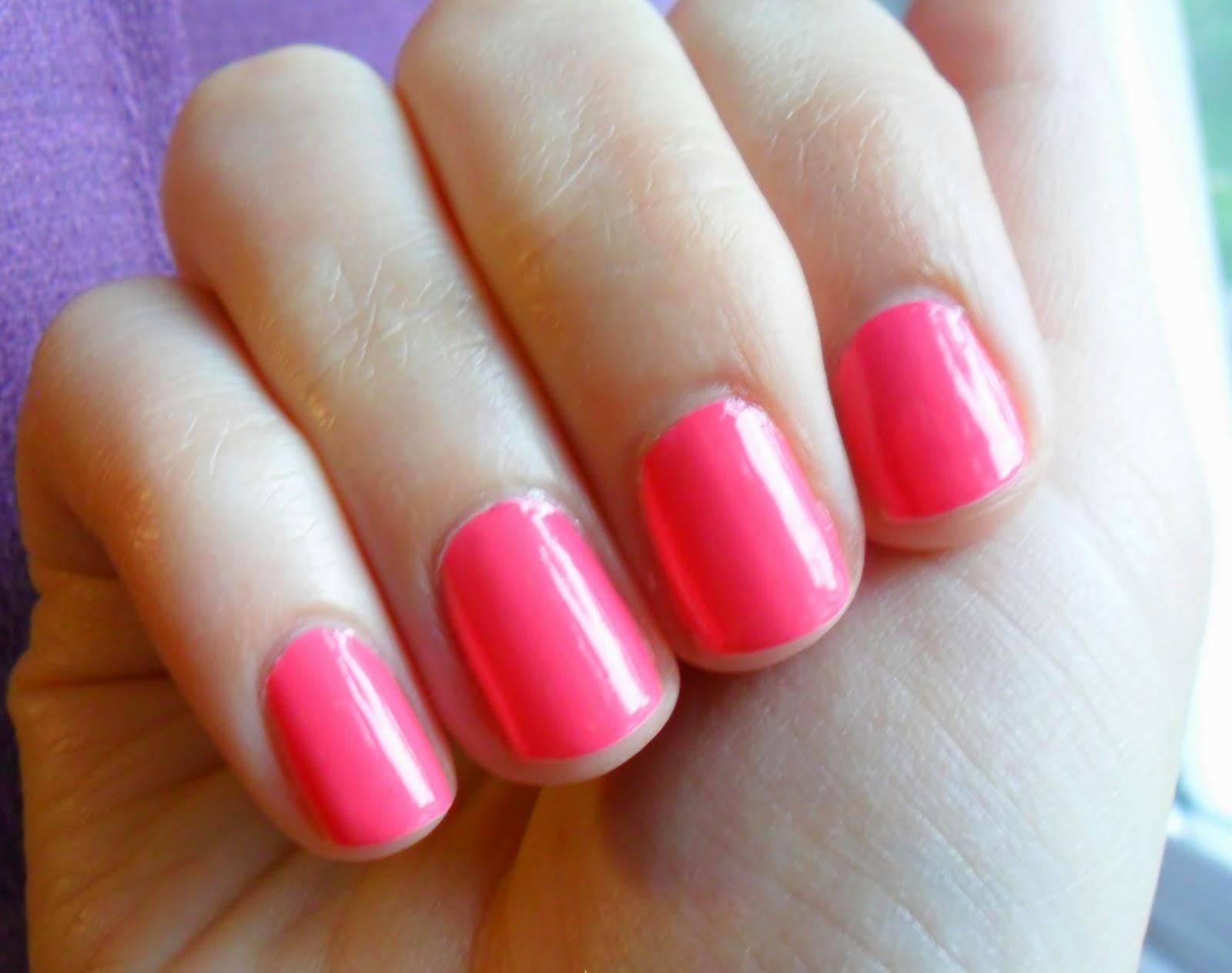 NOTD: Revlon ColorStay Gel Envy Longwear Nail Enamel in 120 Hot Hand Review Swatch