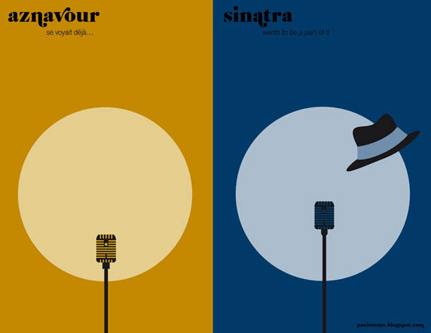as vozes - Aznavour vs Sinatra