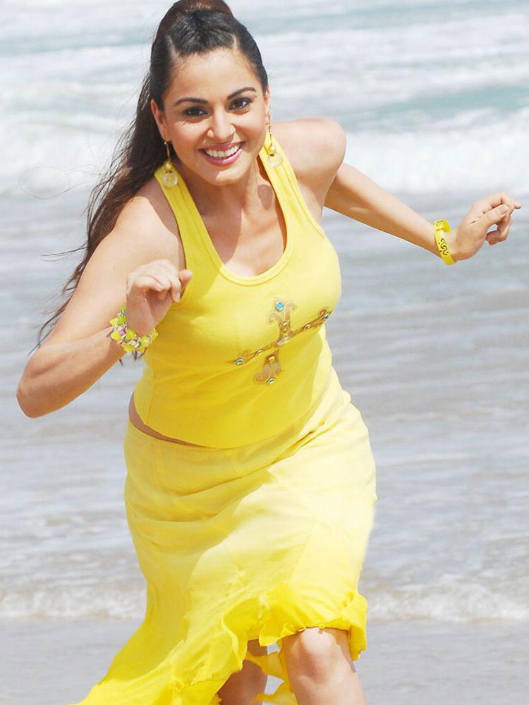 Arya hot wallpaper tv actress lakshmi picture lakshmi in yellow dress