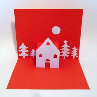 Tutorial: hand made POP UP CARD for Christmas!!