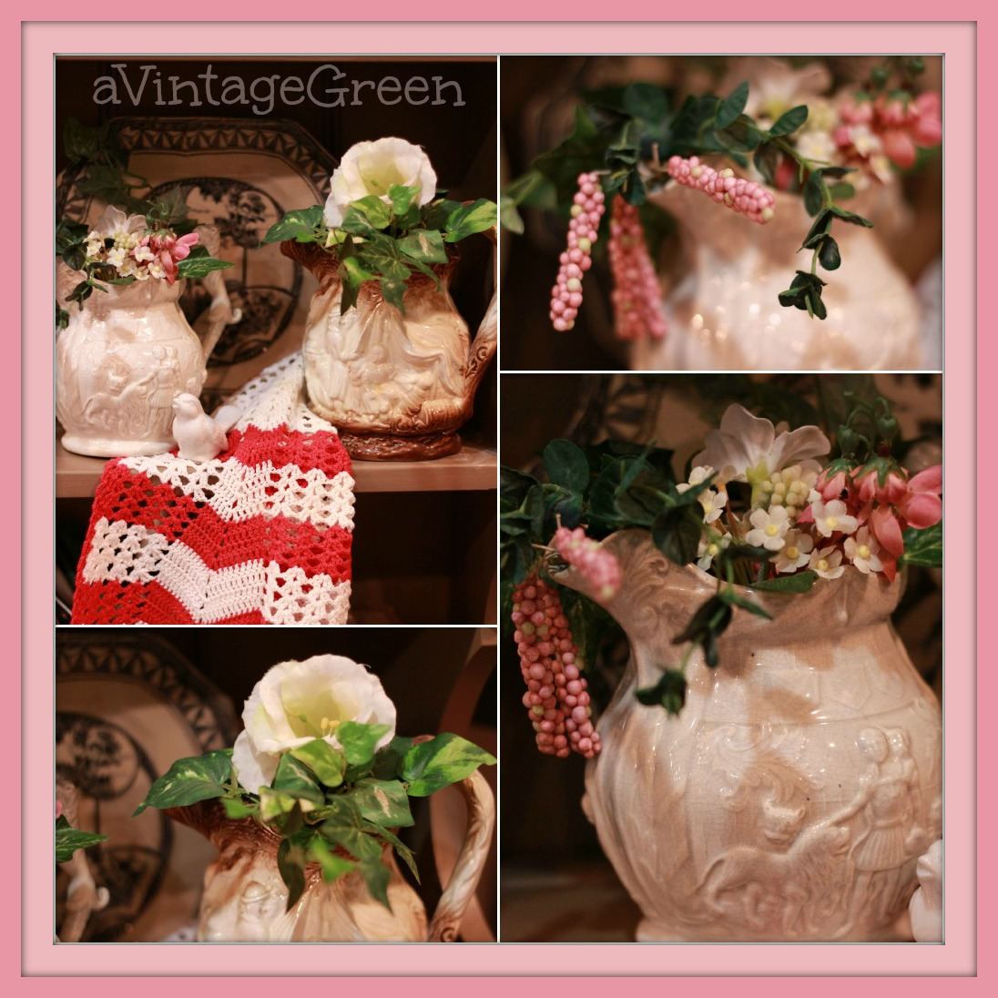 A Vintage Green Happy Valentines Day