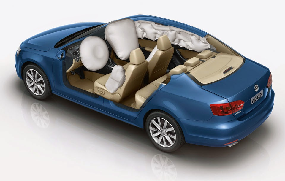 Sensores de impacto acionam e inflam os airbags