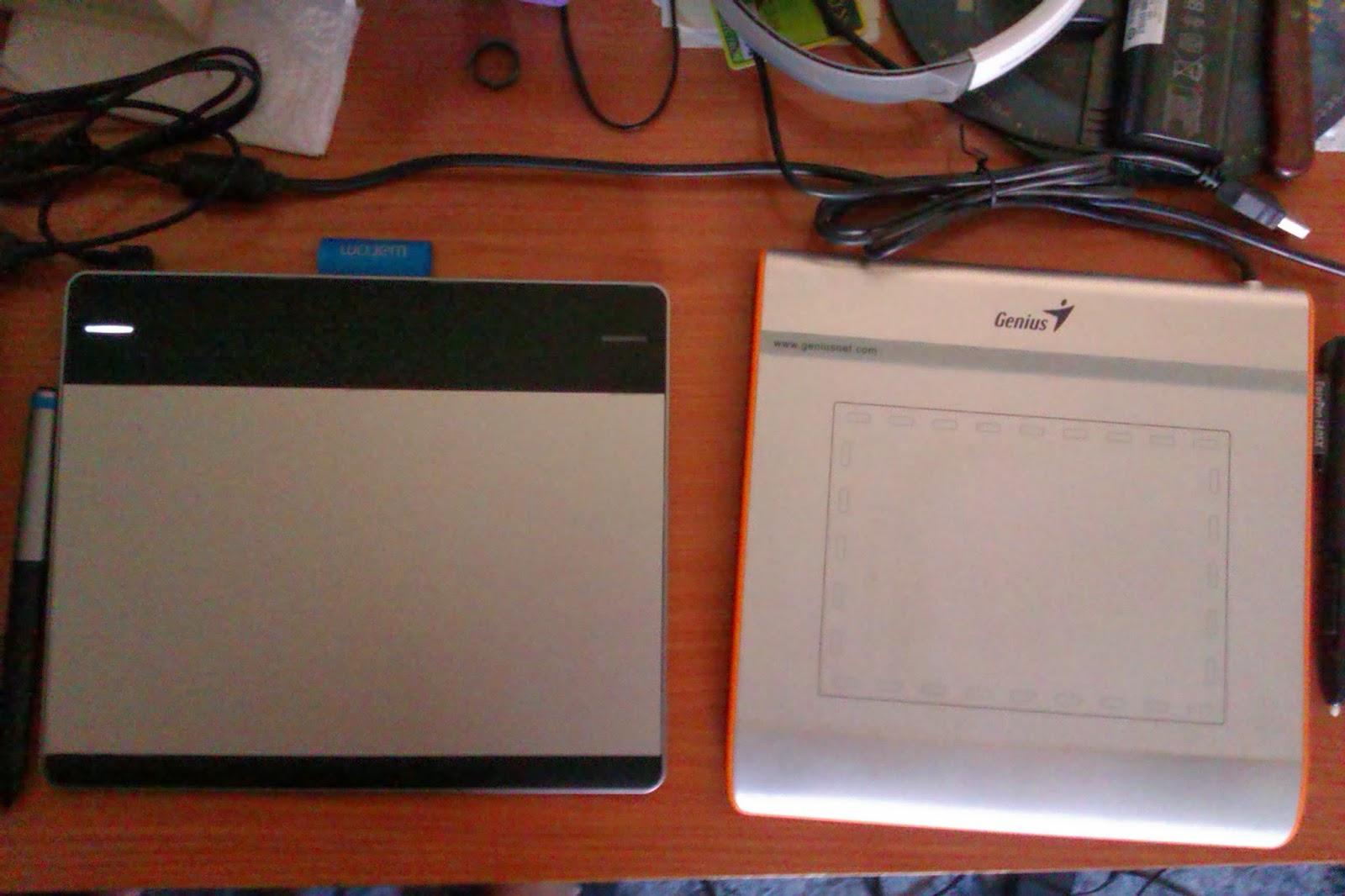 Genius EasyPen i405X & Wacom Intuos