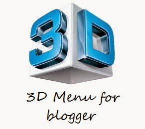 3D menu for blogger | 101helper blogger menus