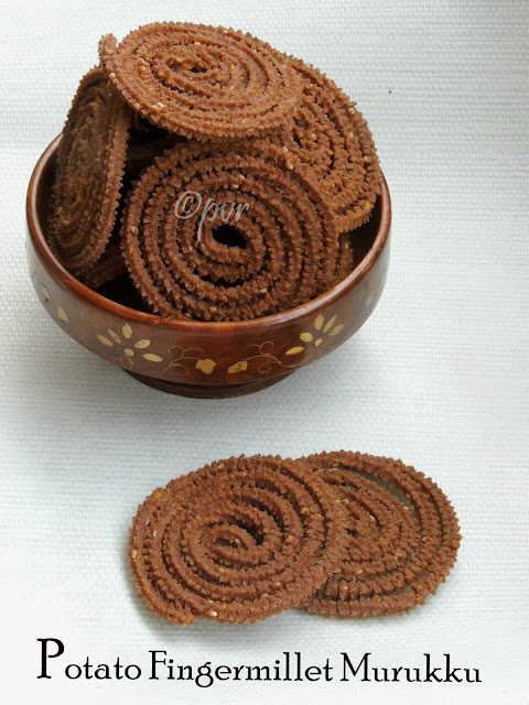 Potato Ragi Murukku