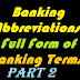 Important Banking  Abbreviation-Full Form of Bank Terms Part 2-Banking Awareness