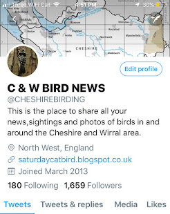 FOR ALL THE LATEST CHESHIRE AND WIRRAL BIRD NEWS