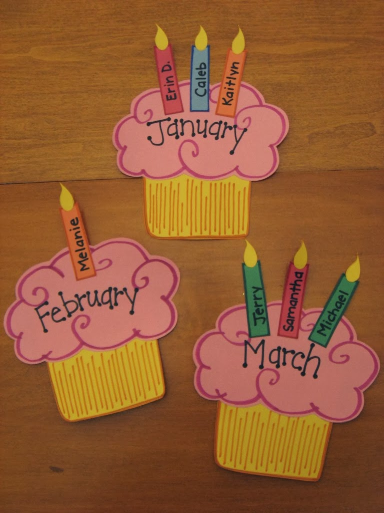 Classroom Birthday Ideas : Didi relief society birthday cupcake calendar board
