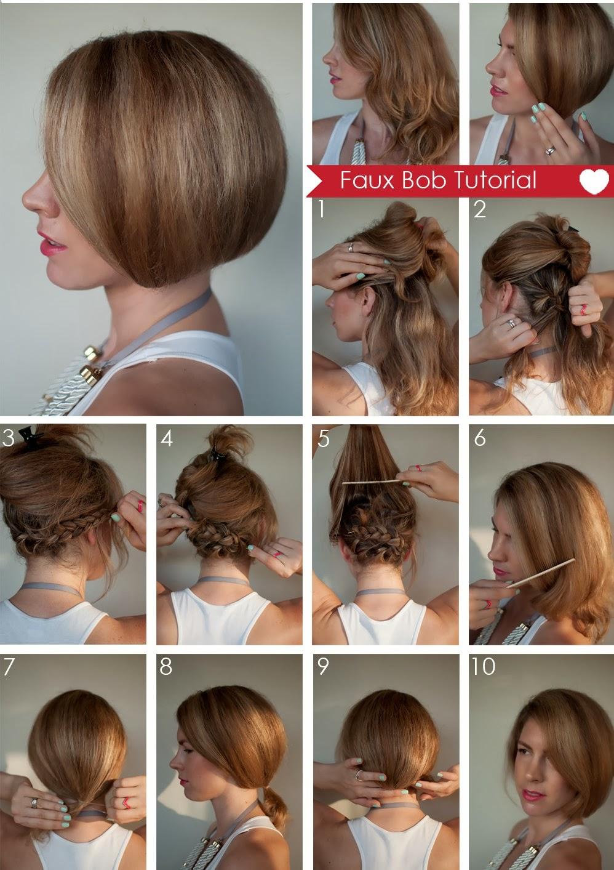 Быстрая причёска своими руками на короткие волосы