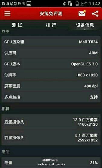 Prime specifiche hardware del top di gamma Huawei Mulan svelate da AnTuTu