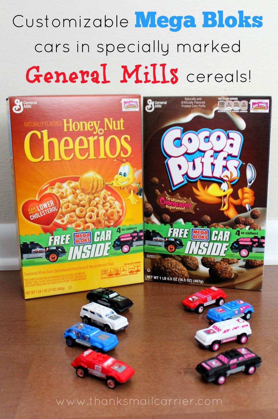 General Mills Mega Bloks cars