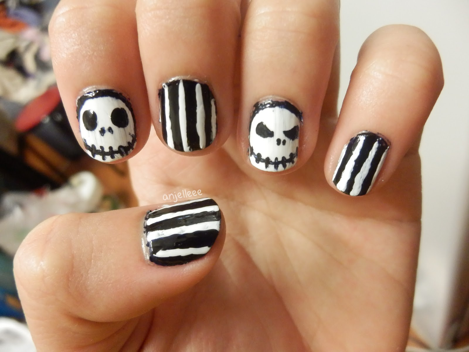 Just Another Beauty Blogger Jack Skellington Nail Art