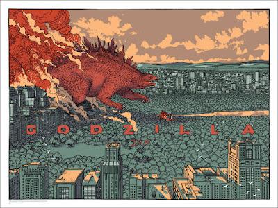 Godzilla Standard Edition Screen Print by Jared Muralt