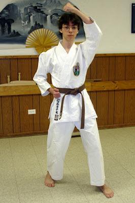 Nicholas Demoskoff Isshin Ryu karate student