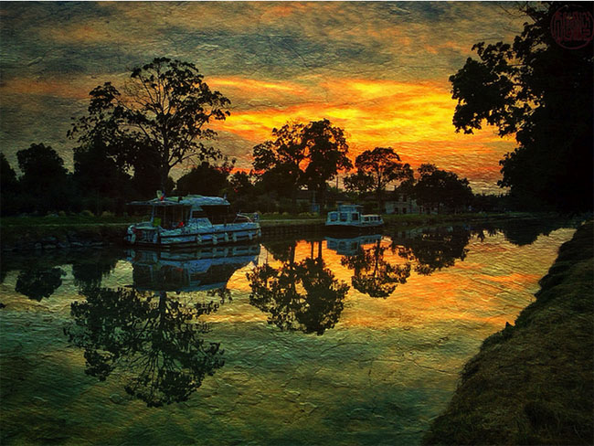 Summer Evening, Canal Du Midi © allophile
