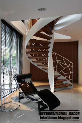 Round spiral staircase interior stairs designs interior home decors - Modern interior design with spiral stairs contemporary spiral staircase design ...