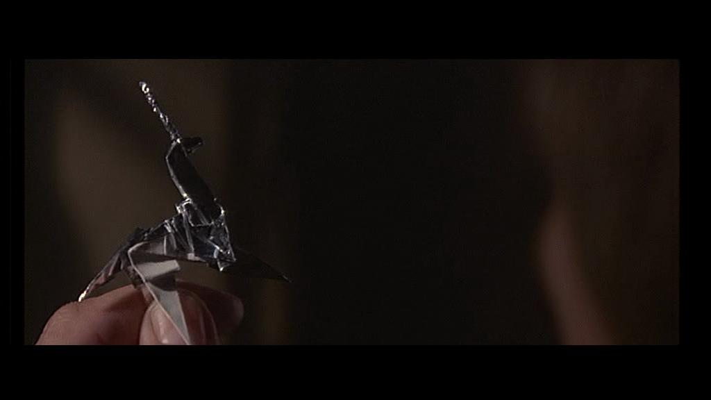Blade Runner 1982 film ridley scott harrison ford sci fi philip K dick origami unicorn gaff