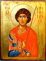 Sfantul mucenic Dimitrie, icoana pictata pe lemn