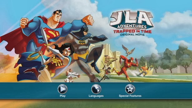 JLA Adventures: Trapped in Time - Menu dvd