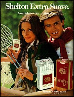 propaganda de cigarros shelton de 1976; propaganda anos 70; história decada de 70; reclame anos 70; propaganda cigarros anos 70; Brazil in the 70s; Oswaldo Hernandez;