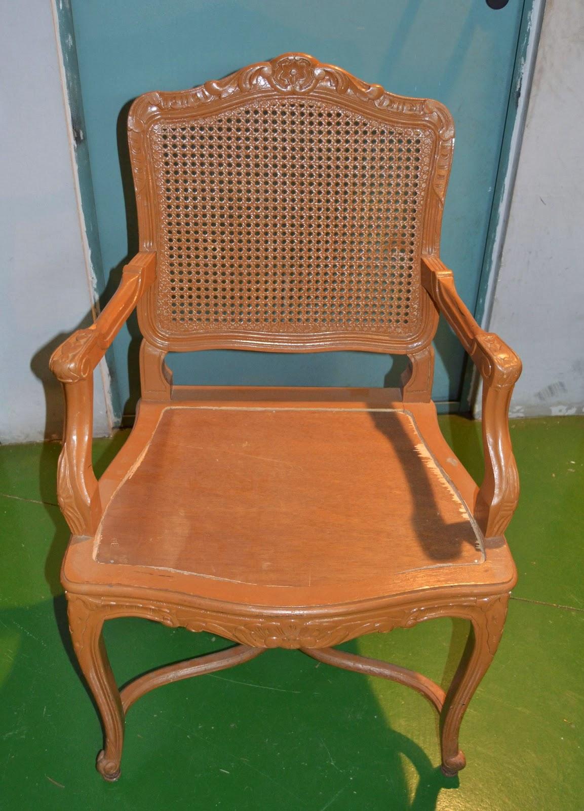 Taller de restauraci n lila silla rejilla restaurada y - Reparacion de sillas de rejilla ...