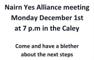 Nairn Yes Alliance meeting 1st Dec