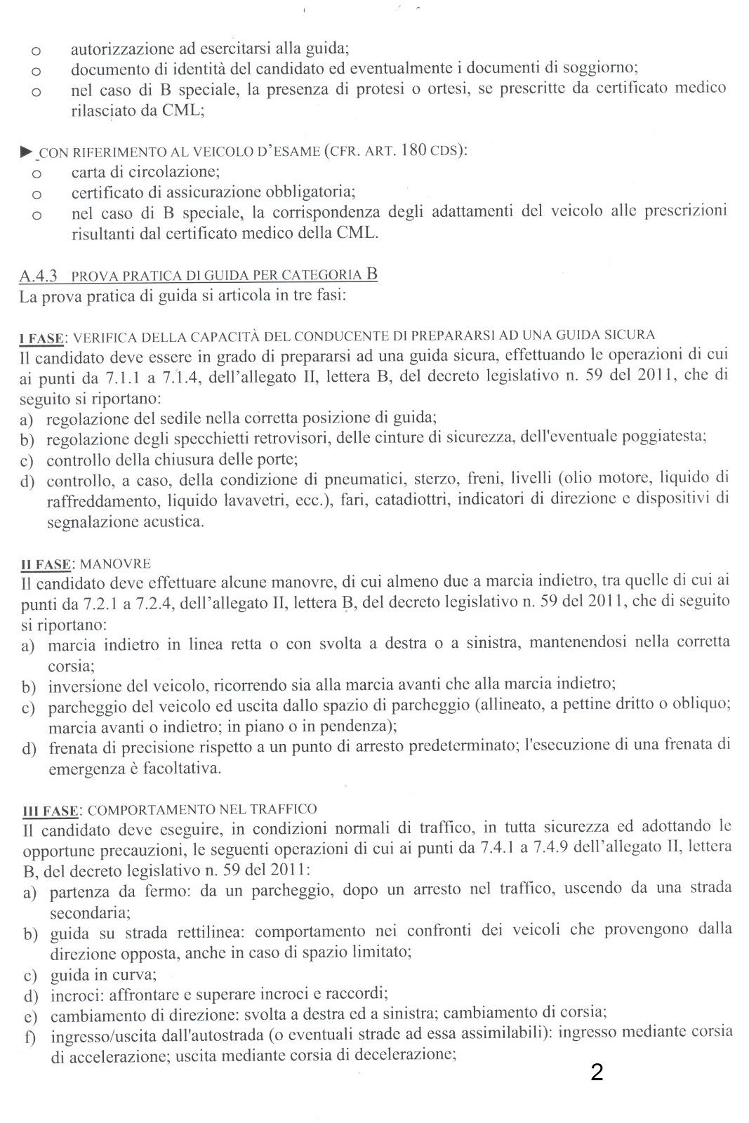 il Blog dell\'Autoscuola Vieusseux: Esame di guida patente B...nuove ...