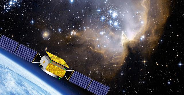 Artist's impression of the DAMPE spacecraft. Credit: dpnc.unige.ch