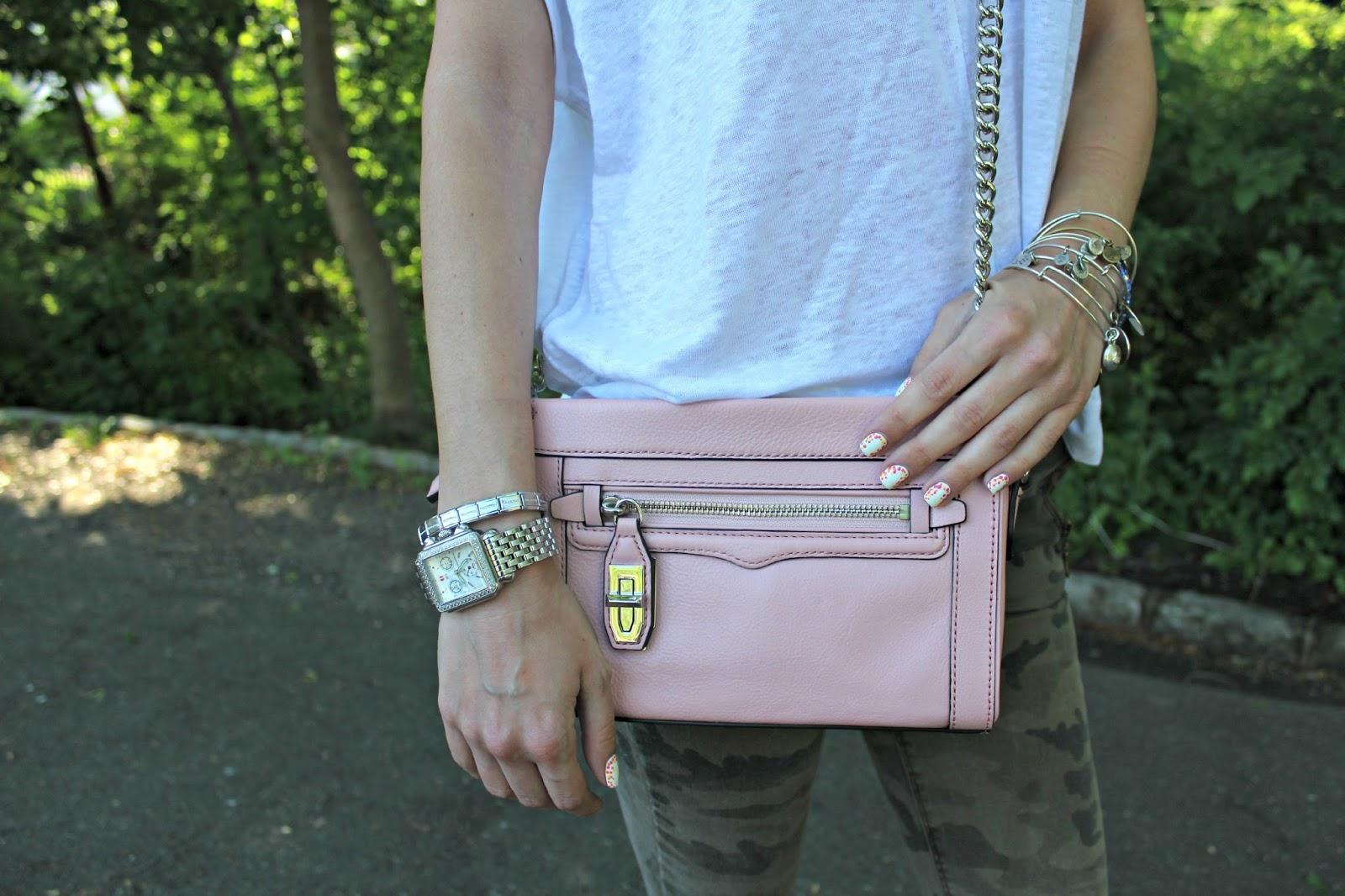 rebecca minkoff blush pink crossbody