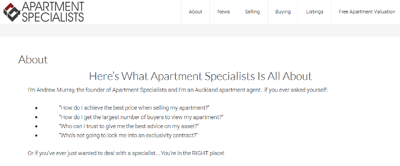 leading apartment specialists in Auckland
