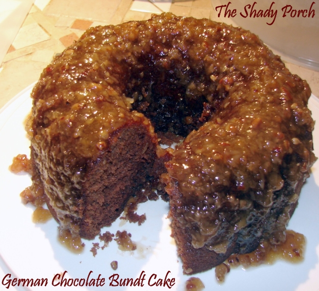 German Chocolate Bundt Cake #recipe #chocolate #cake #cakeicing