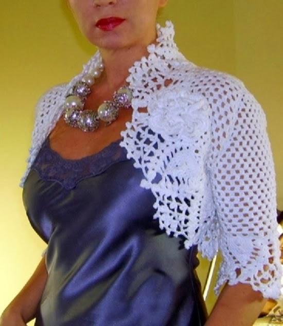 Bolero elegante em Crochê