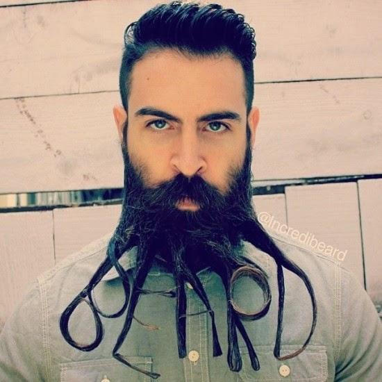 Veja o que esse homem consegue fazer com a barba