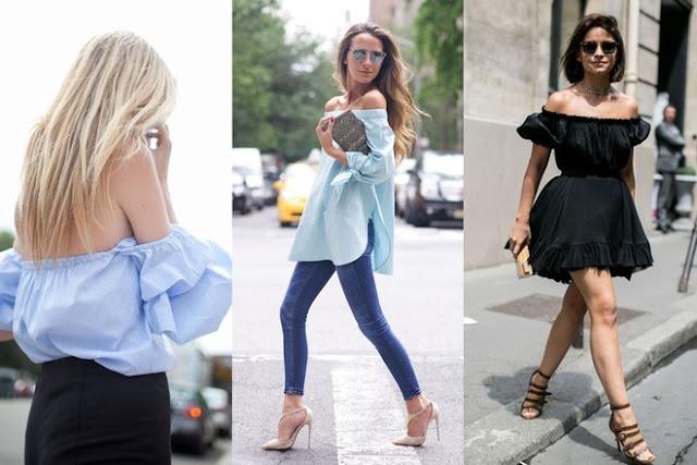 Trang phục trễ vai là xu hướng hot của năm nay kể từ khi thời trang thập niên 1970 khuynh đảo mọi con phố.