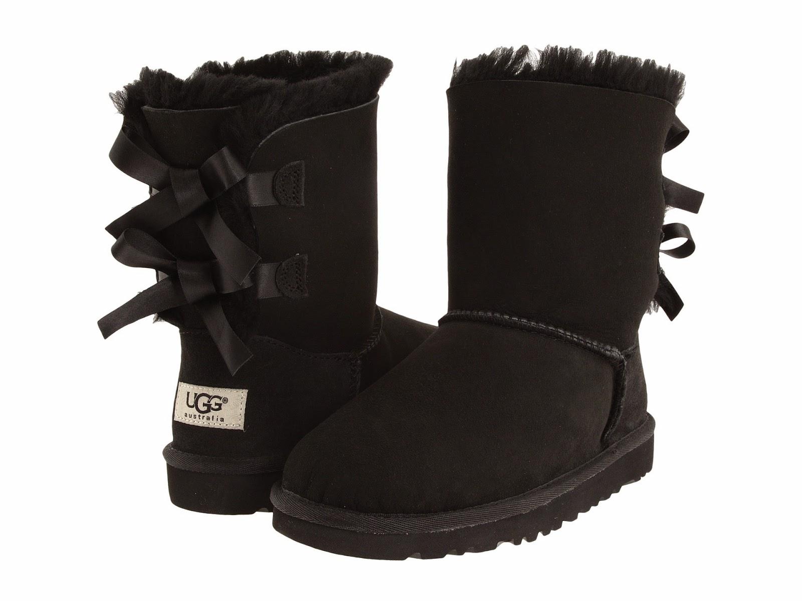 ugg boots schwarz mit schleife