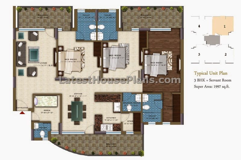 Apartment floor plans for 2000 square feet for 2000 sf house plans