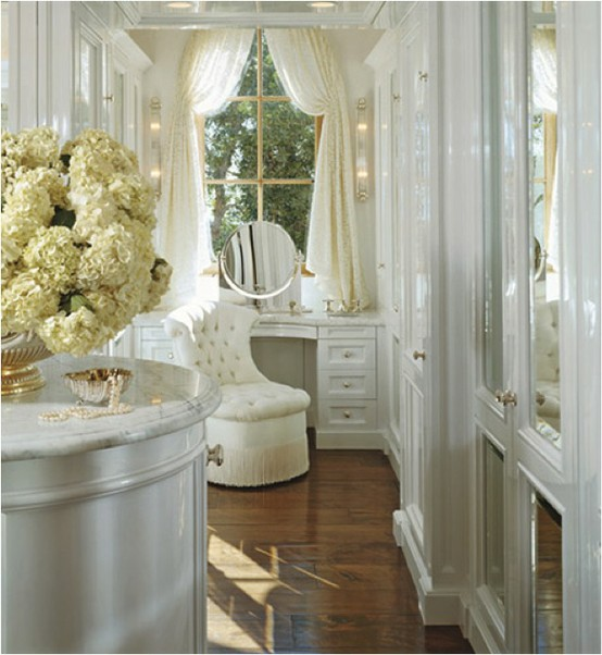 Eye for design decorating with vanity tables for Bathroom dressing room designs