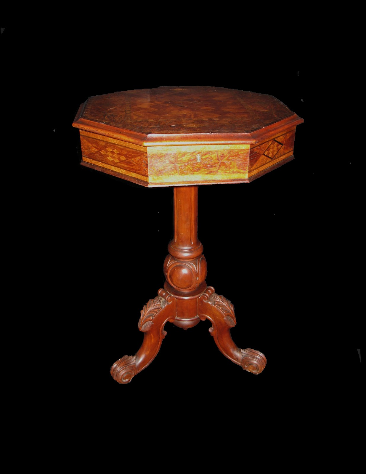 Portobello antiques rare inlaid work table by jewell co for Chinese furniture christchurch